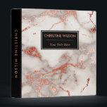 """elegant black and rose gold marble stone 3 ring binder<br><div class=""""desc"""">elegant marble look binder</div>"""