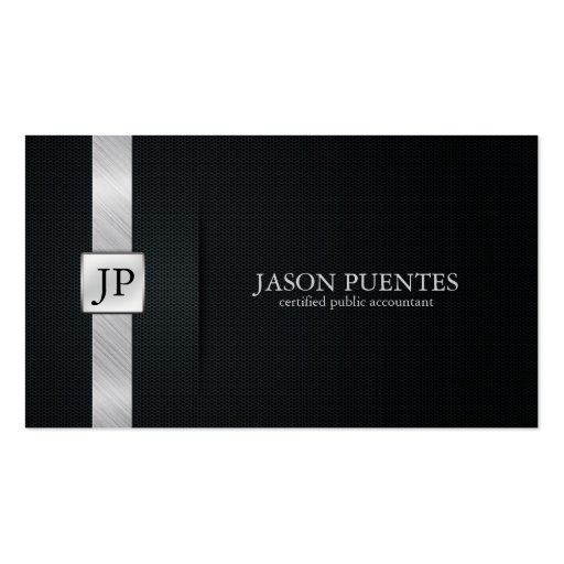 Elegant Black and Silver Accounting Double Sided Standard