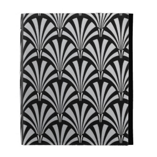 Elegant Black and Silver Art Deco iPad Case