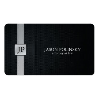 Elegant Black and Silver Attorney At Law Double-Sided Standard Business Cards (Pack Of 100)