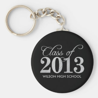 Elegant Black and Silver Class of 2013 key-chains Keychain