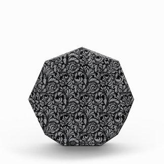 Elegant Black and Silver Damask Floral Pattern Awards