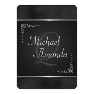 Elegant Black and Silver Wedding Invitations