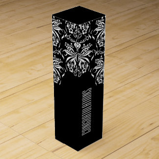 Elegant Black and White All Occasion Wine Gift Box