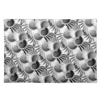 Elegant Black and White Art Deco 1920s Glamour Cloth Placemat
