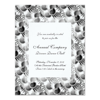 Elegant Black and White Art Deco 1920s Glamour Personalized Announcements