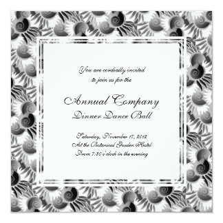 Elegant Black and White Art Deco 1920s Glamour Personalized Invites