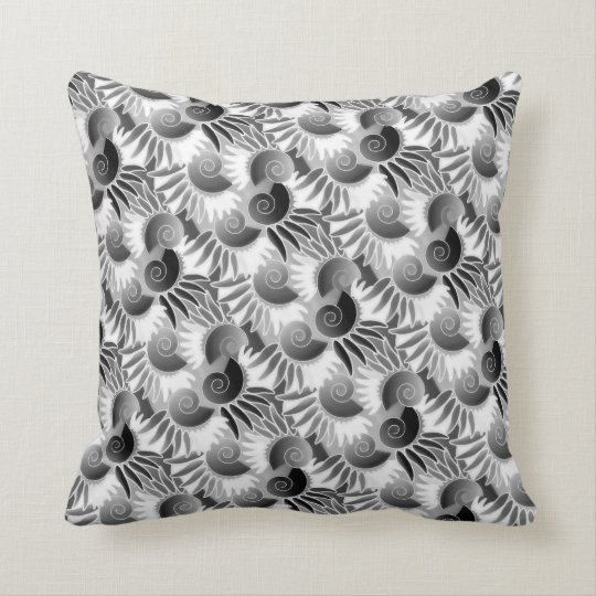 Elegant Black and White Art Deco 1920s Glamour Throw Pillow