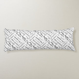 Elegant Black and White Bon Appetit French Chef Body Pillow