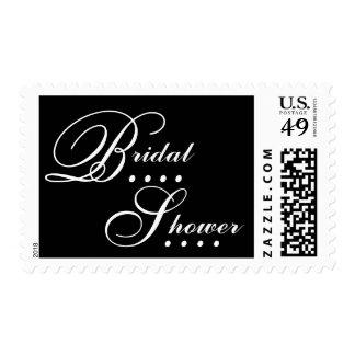 Elegant Black and White Bridal Shower Stamp