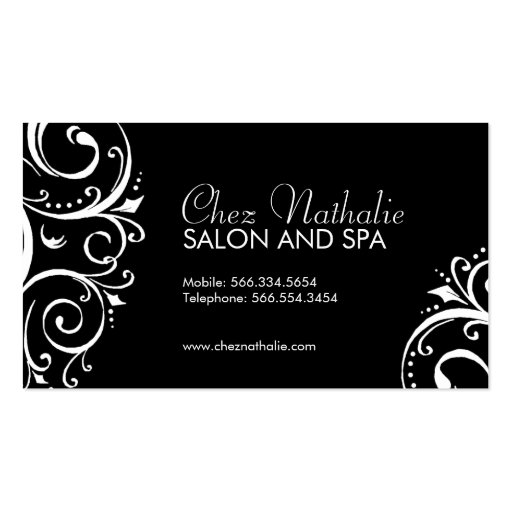 Elegant Black and White Business Cards