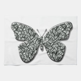 Elegant Black And White  Butterfly Kitchen Towel