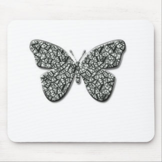 Elegant Black And White  Butterfly Mouse Pad