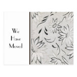 Elegant Black and White Change of Address Template Postcard