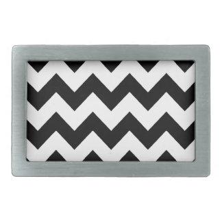 elegant black and white chevron stripes belt buckle
