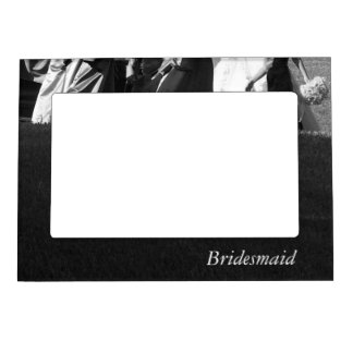 Elegant Black and White Customizable Bridesmaid Magnetic Frame
