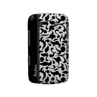 Elegant Black And White Damask Blackberry Bold Blackberry Bold Covers