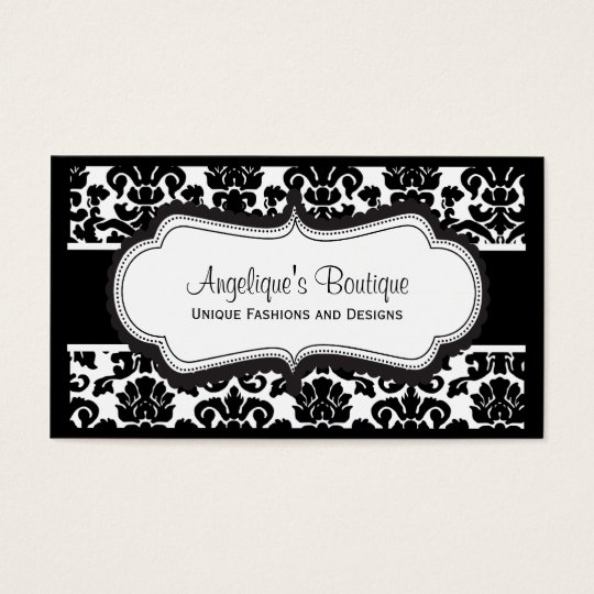 Elegant black and white damask business cards zazzle elegant black and white damask business cards reheart Gallery