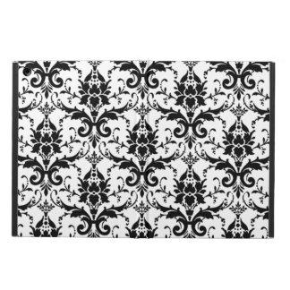 Elegant Black and White Damask Filigree Pattern Case For iPad Air