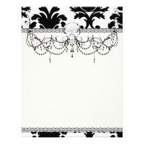 elegant black and white damask flyer