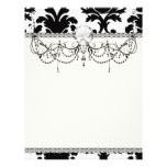 elegant black and white damask flyer design
