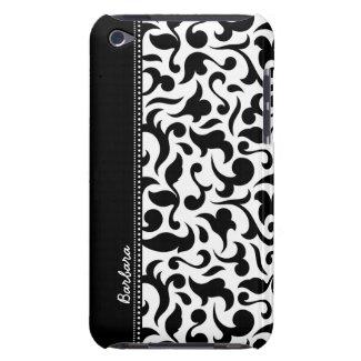Elegant Black And White Damask iPod Touch Case
