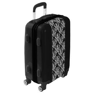 Elegant Black and White Damask Luggage
