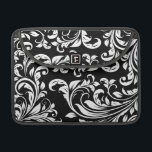 """Elegant Black and White Damask Macbook Pro Sleeve<br><div class=""""desc"""">Elegant Black and White Damask Macbook Pro Sleeve.</div>"""