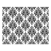 Elegant Black and White Damask Pattern Flyer