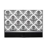 Elegant Black and White Damask pattern Cases For iPad Mini