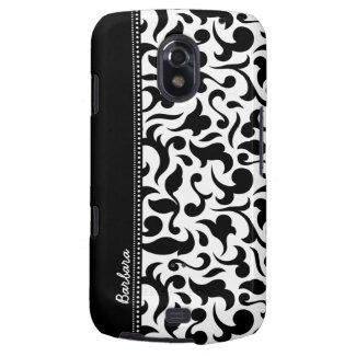 Elegant Black And White Damask Samsung Galaxy Galaxy Nexus Covers