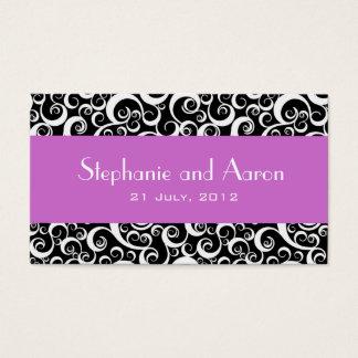 Elegant Black and White Damask Wedding Card