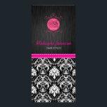"Elegant Black and White Damask with Pink Ribbon Rack Card<br><div class=""desc"">Elegant Black and White Damask with Pink Ribbon Rack Cards.  Add your own info.</div>"