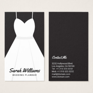 Bridal shop business cards templates zazzle elegant black and white event wedding planner business card reheart Images