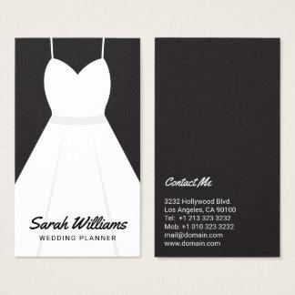 Elegant Black And White Event Wedding Planner Business Card