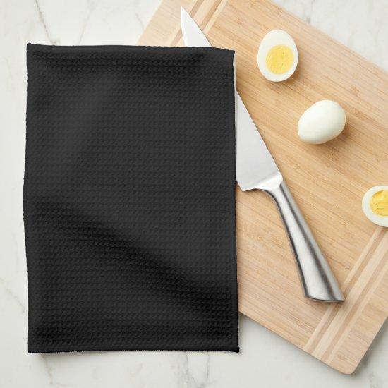 Elegant Black and White Family Monogram Kitchen Towel