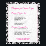 """Elegant Black And White Floral Damasks Flyer<br><div class=""""desc"""">Black and white vintage floral damasks fully customizable business flyer. Matching business card holder and business flyer and many more product. If you need any help customizing, changing color, or anything else to any of my designs, contact ArtOnWear designer. Free text formatting with live help available by request. Matching business...</div>"""