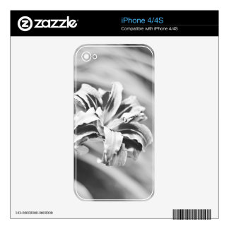Elegant Black and White Flower Photography iPhone 4S Decals