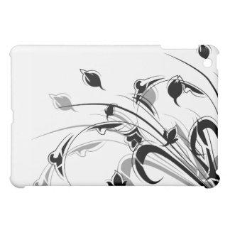 Elegant Black and White Flowers iPad Mini Covers