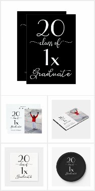 Elegant Black and White Graduation Party Supplies