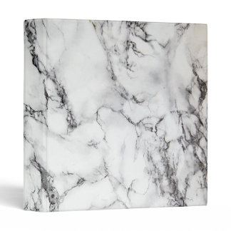 elegant black and white marble look 3 ring binder