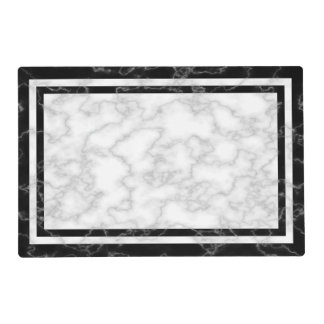 Elegant Black and White Marble Print Placemat