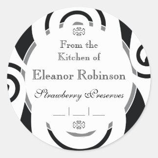Elegant Black and White Medieval Monogram S Stickers