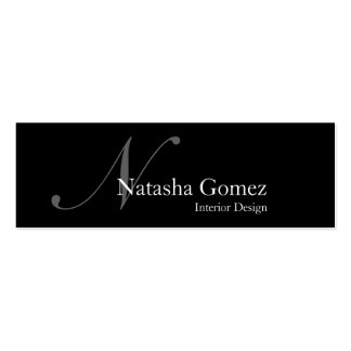 Elegant Black and White Monogram Business Card