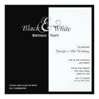 Black and white birthday invitations announcements zazzle elegant black and white party filmwisefo