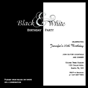 Black party invitations zazzle elegant black and white party invitation filmwisefo