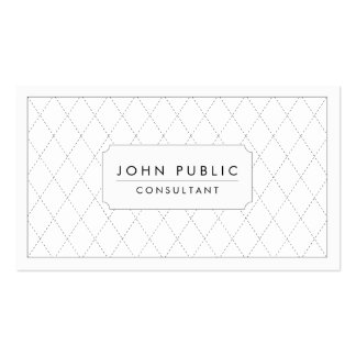 Elegant Black and White Pattern Double-Sided Standard Business Cards (Pack Of 100)