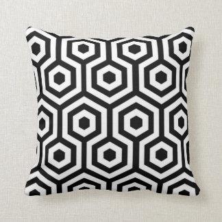 Elegant Black and White Pattern Pillow