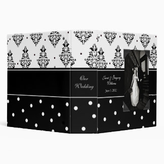 Elegant Black and White Photo Wedding Binder