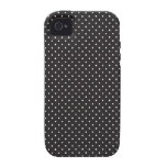 Elegant black and white pin dot dots iPhone 4S 4 iPhone 4/4S Case